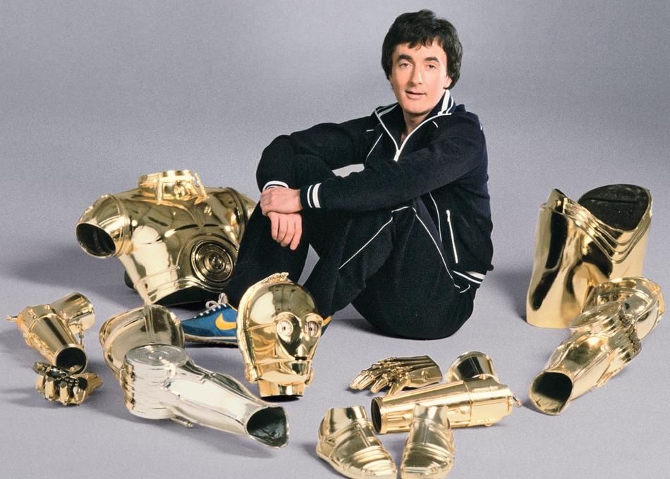 C-3PO - Anthony Daniels - 1977 - Traje con pierna plateada