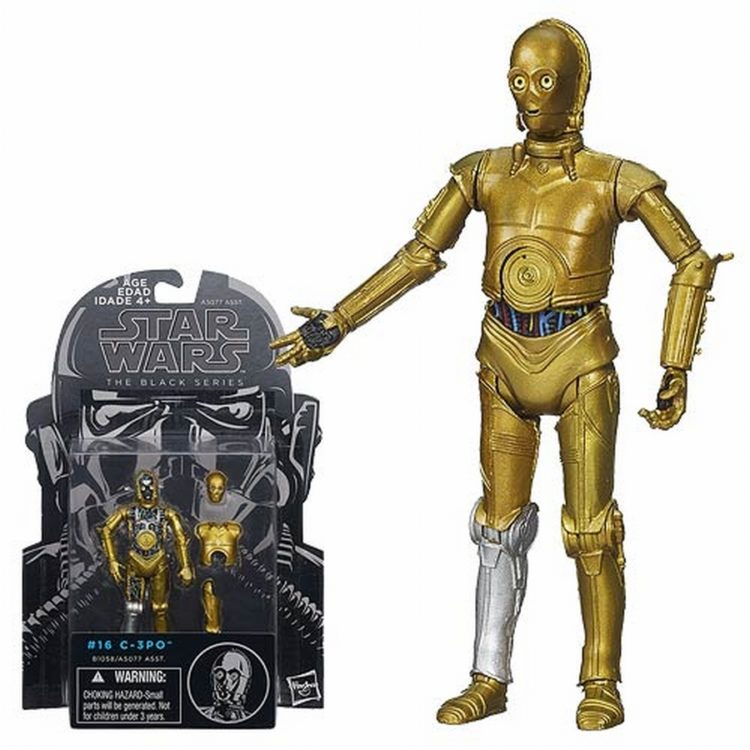C-3PO - Kenner - Black Series - Pierna plateada - Pie dorado