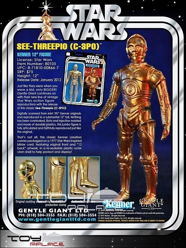 C-3PO - Kenner - 12 pulgadas - Dorado