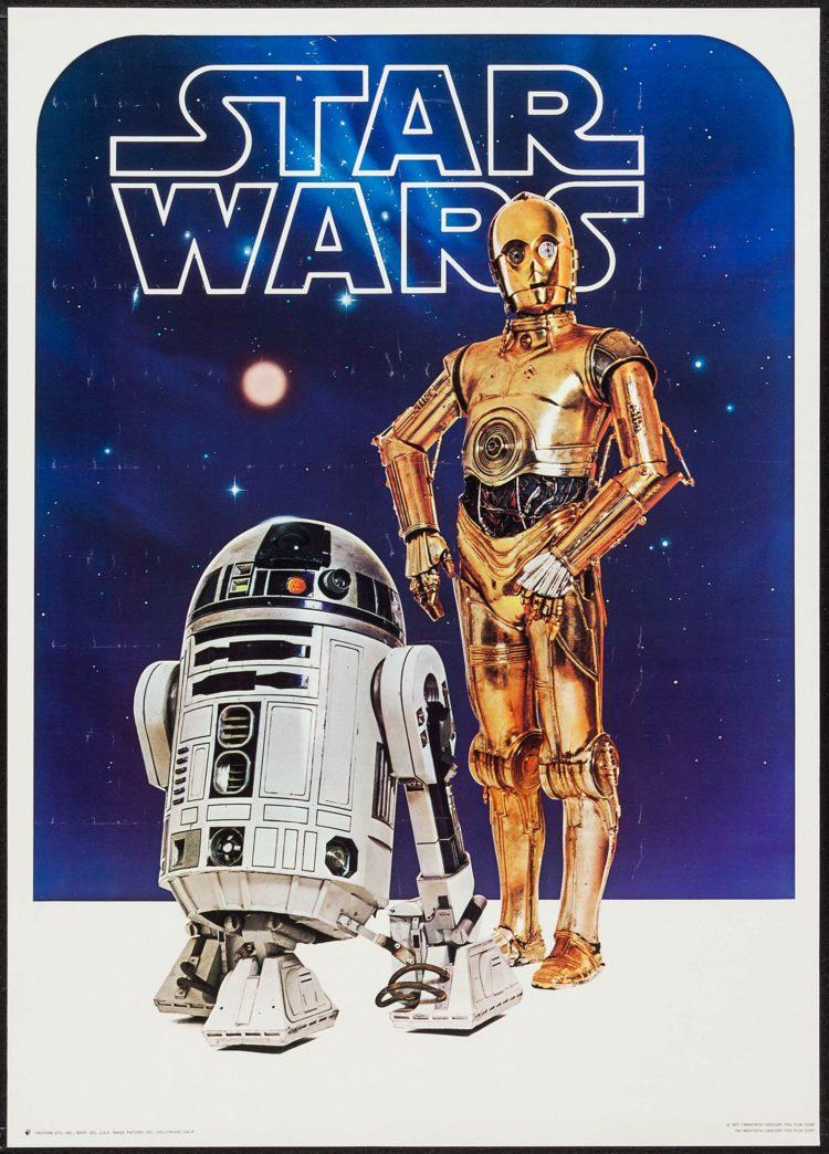 C3PO - R2D2 - Poster oficial 1977
