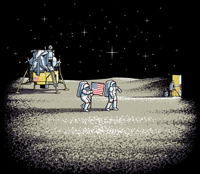 Apollo 11 - Montaje - Caricatura