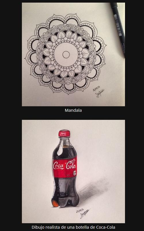 Logo de Coca-Cola - Dibujo realista botella