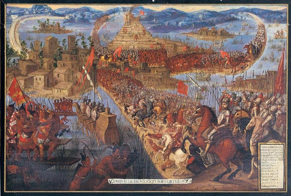 Cortés conquista Tenochtitlán
