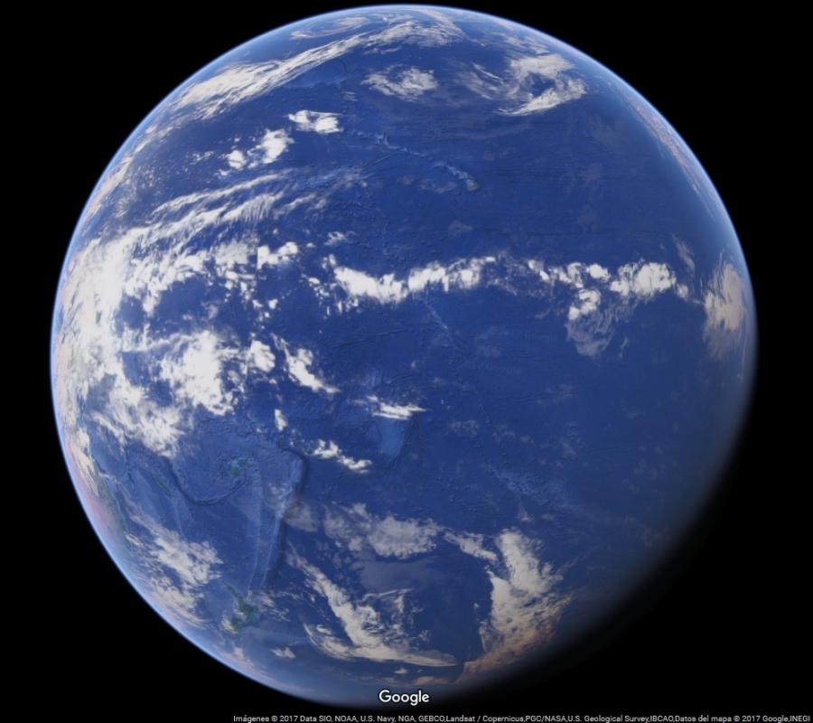Globo Terráqueo - Océano Pacífico