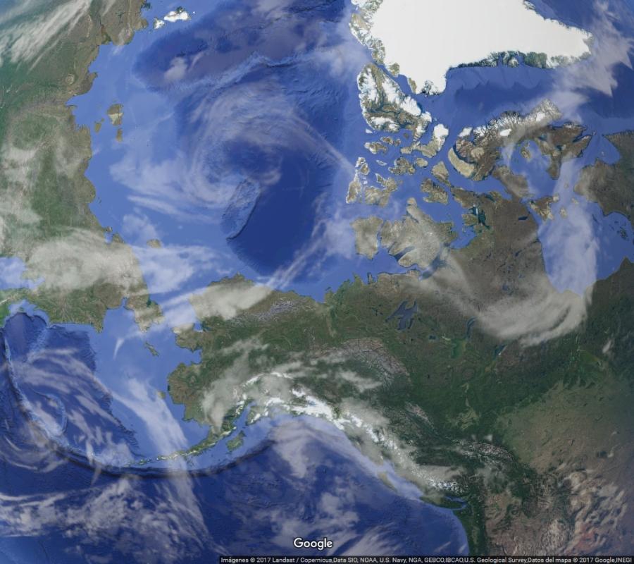 Globo Terráqueo - Polo Norte