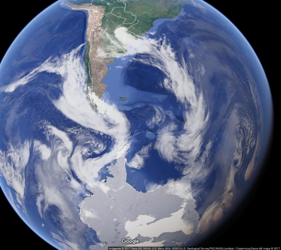 Globo Terráqueo - Polo Sur