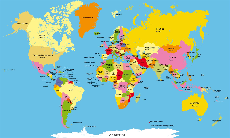 Mapa del Mundo - 1