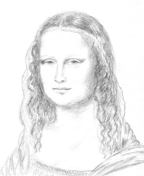 Mona Lisa - Dibujo - Natalya Schurmovskaya