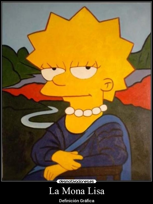 Mona Lisa - Simpsons - 2