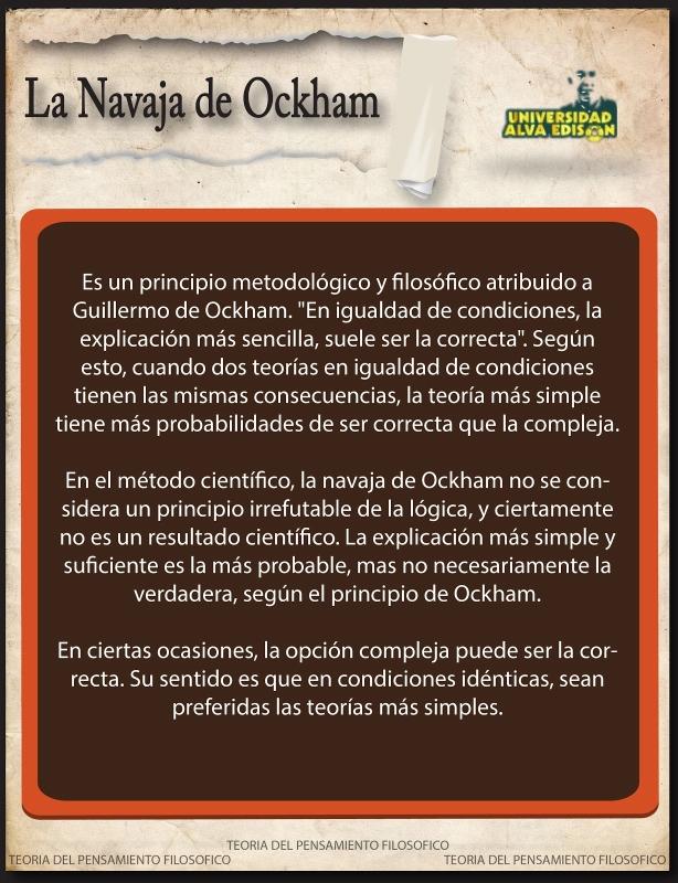 Navaja de Ockham