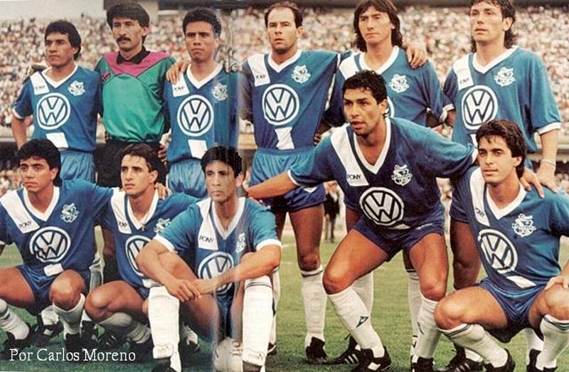 Logo de Volkswagen - Camiseta Puebla 89-90