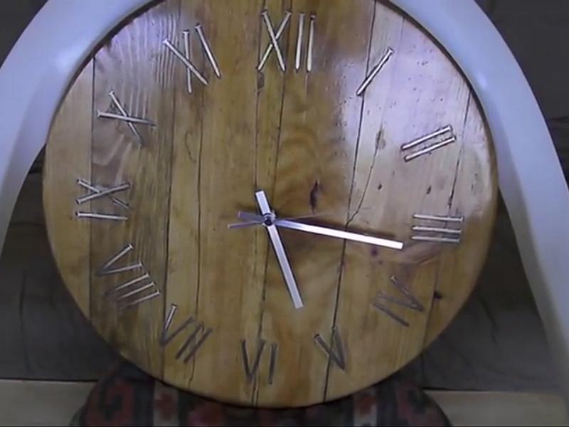 Reloj de madera - Video