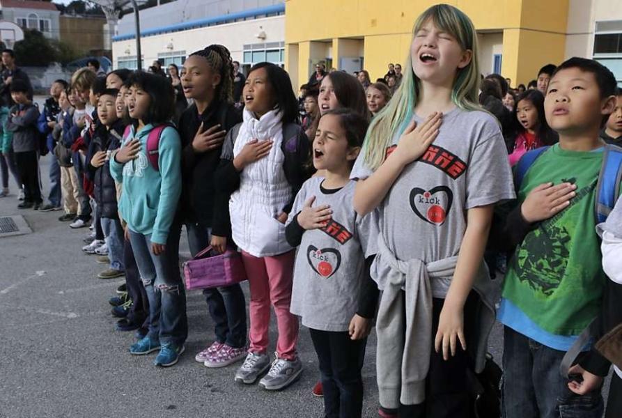 Saludo a la Bandera - USA - Niños 2
